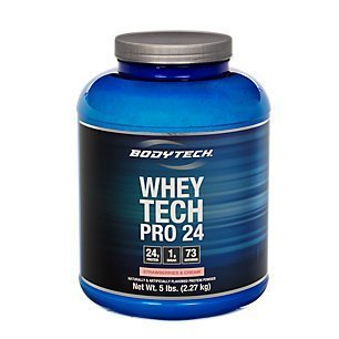 BodyTech Whey Tech Pro 24 Protein Powder Protein Enzyme Blend with BCAA's to Fuel Muscle Growth Recovery, Ideal for PostWorkout Muscle Building Strawberry Shortcake (5 Pound)