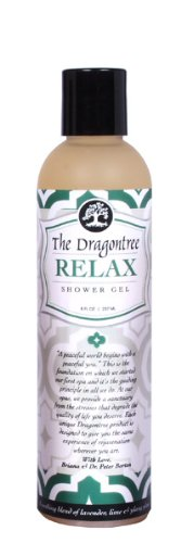 Natural Aromatherapy Body Wash – (Relax) – A Soothing Blend of Lavender, Lime & Ylang Ylang – Contains Essential Oils to Keep Your Skin Moisturized and Healthy – A Shower Gel By The Dragontree, (Lavender Mint Body Wash)