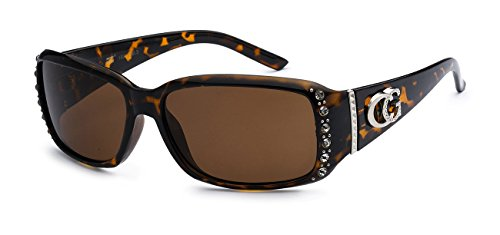 5Zero1 CG Eyewear Two Tone Rhinestone Square Colorful Women Girls Fashion Hot Sunglasses