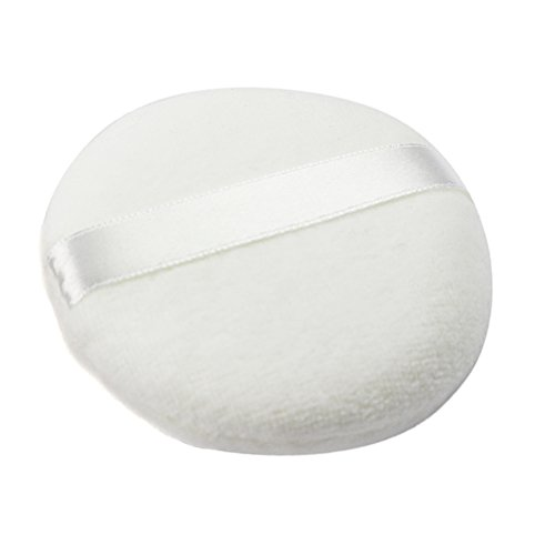 Joly Pure Cotton Powder Puff for Face Makeup or Skin Care 3.15 Inch (1 Piece, White) (White Face Makeup Powder)