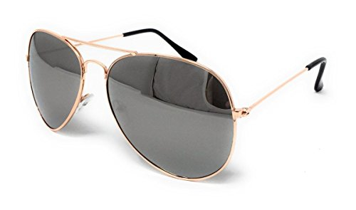 Frame Lens Mirrored One Lunettes de Silver Gold Size Homme soleil WSUK 0zH4Aqvv