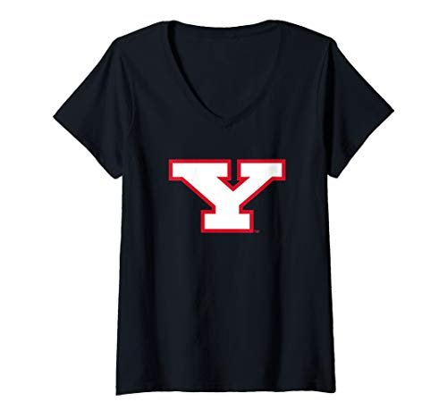 Womens Youngstown State University Penguins NCAA PPYSU019 V-Neck T-Shirt