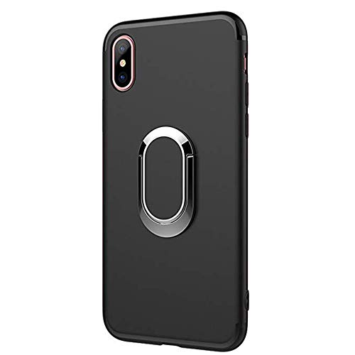 Spilay iPhone Xs Max Case with Magnetic 360 Rotating Ring Holder Kickstand Case