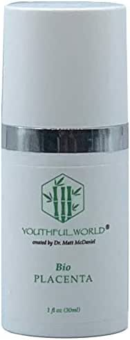 YOUTHFUL.WORLD Bio Placenta Anti-Wrinkle Serum (Created by Dr. Matt McDaniel, Medical Grade) with Growth Factors and Neuropeptides and Oligo Elements
