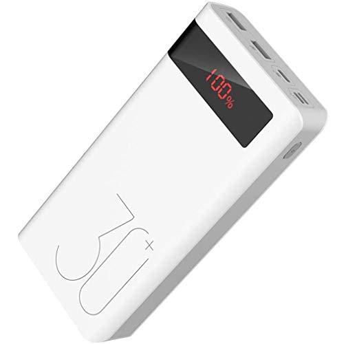 XBRMMM 30000mAh Power Bank, 18W Tipo-C PD Cargador Portátil con Pantalla LED, Salida De 3 Entradas Baterías Externas…