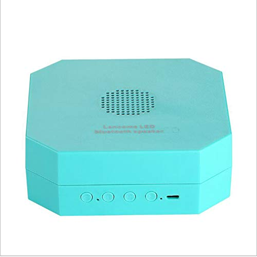 FENGFENGGUO Bluetooth Speaker, Accordion Multi-Function Hanging Book Led Night Light Creative Gift Birthday Gift,Cyan