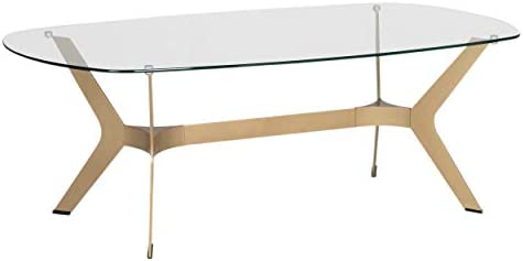Statements by J B50870 Mystique Coffee Table w Handcrafted Legs, 19 Inch Tall, Gold