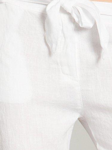 Khs038 Pour Blanc Femme En Caspar Pantalon D'été Lin Léger eIE9YWbDH2