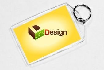 Acrylic Photo Snap-in Key Chain - 2x3 (pack of 25)