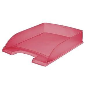 Leitz - Vaschetta portacorrispondenza A4, 5 pezzi, rosso ghiaccio 1 spesavip