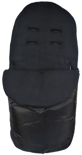 Cuddles Collection Showerproof Fleece Lined Footmuff (Black) by Cuddles Collection by Cuddles Collection