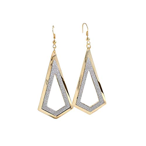 Jocund Women Personality Simple Retro Metal Geometric Drop Frosted Earrings Ladies Jewelry
