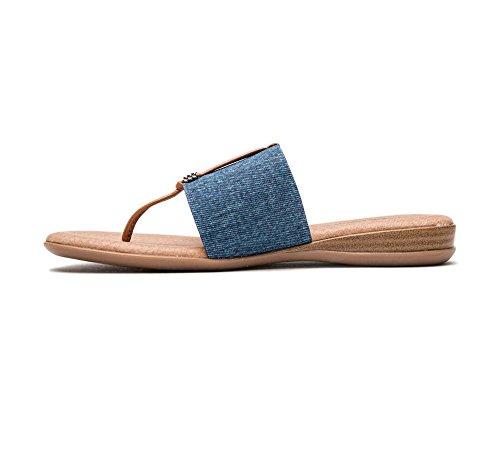 Assous André Denim Sandal Nice Flat Women's d11q4S