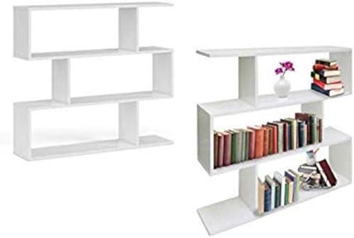 EGLEMTEK - Librería Nevera de diseño, estantería Moderna Blanca ...