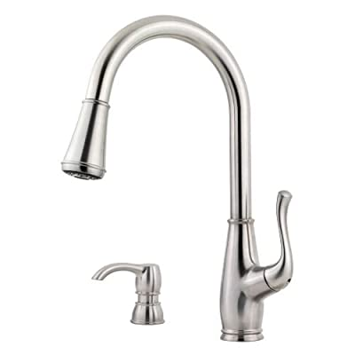 Pfister F-529-7SW Sedgwick Pullout Spray Professional Kitchen Faucet with Soap D,