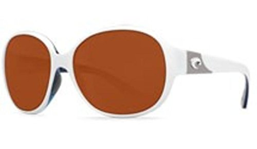 Costa Del Mar Sunglasses - Blenny- Plastic / Frame: White / Topaz Lens: Polarized Copper 580 Polycarbonate