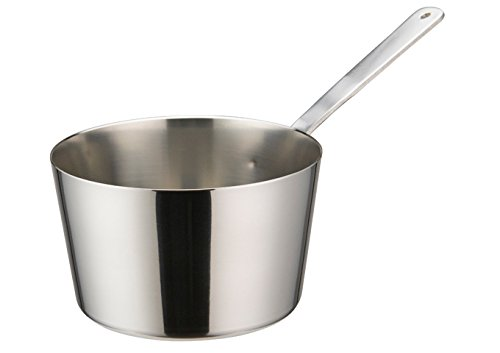 Winco DCWB-103S, 4″Dia x 2-3/8″H Stainless Steel Mini Taper Sauce Pan With Long Handle, Commercial Grade Sauce Pot, Small Saucepan