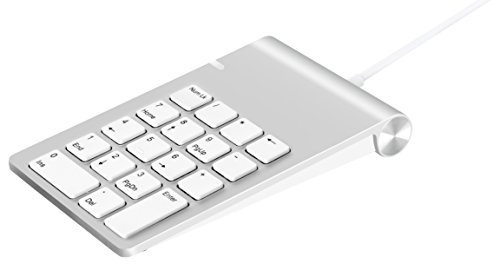 Alcey Aluminum Finish USB Numeric Keypad with 24 inch USB Cable, for iMac, MacBook, MacBook Pro, MacBook Air, Mac Mini, or any PC (Usb Number Pad Macbook compare prices)