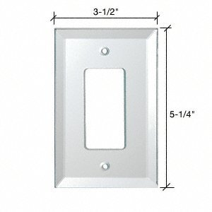 Single Decora Back Painted Glass Cover Plate - White