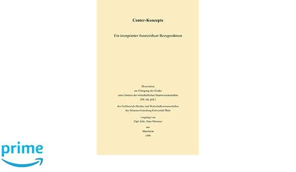 Center-Konzepte: Ein integrierter theoretischer Bezugsrahmen