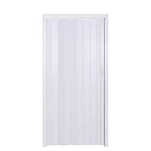 Tenoner Interior Accordion Folding Door, PVC, 36'80',Oak White,Hardware Included