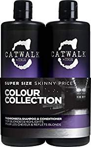 Catwalk Tigi Fashionista Blondes and Highlights Shampoo & Conditioner Set, 25.36 Fluid Ounce (Purple Shampoo And Conditioner)