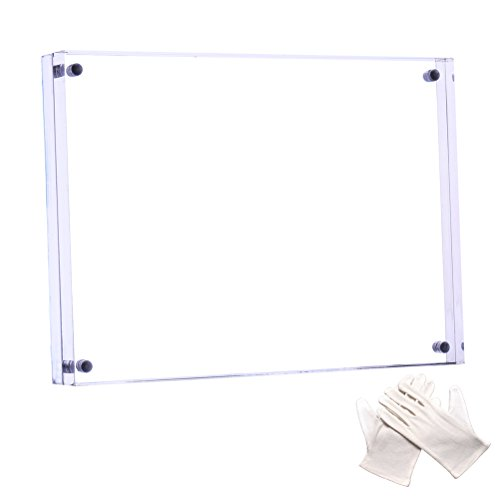 Cozii Acrylic Picture Frame 4x6 inch Clear Strong Magnetic Suction Creative Double Highly Transparent Acrylic Frame Desktop Photo Frame by Cozii