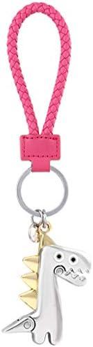 CQ 車のキーチェーン男性クリエイティブパーソナリティかわいいキーリング女性ペンダントアート小フレッシュ (Color : Pink)