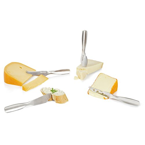 BOSKA Stainless Steel Mini Cheese Knives, 4 Piece Gift Set, 10 Year Guarantee, Monaco Collection