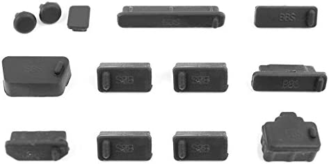 DURAGADGET Protective Black Dust Port Covers//Protection Guards for Dell Inspiron 13 /& 15 Laptops