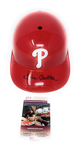 (Steve Carlton Philadelphia Phillies Signed Autograph MLB Full Size Souvenir Batting Helmet JSA Witnessed Certified)
