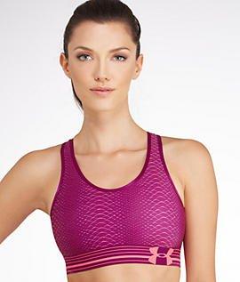 Armour exotic De Bloom Sport Mid Purple Under open Orange Femme Printed Brassière Purple HwdgZAqxF