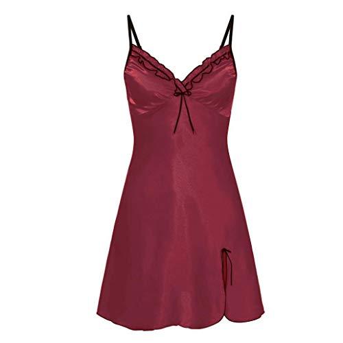 Zlolia Clearance Womens Nighte Dress Plus Size fold Bow Lingerie Babydoll Nightwear Sleepskirt -