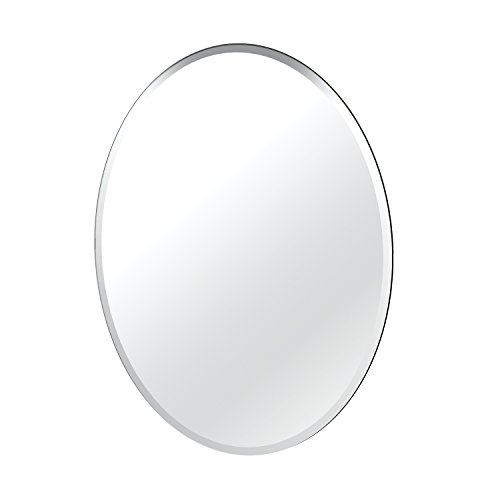 Gatco 1801 Flush Mount Frameless Large Mirror, - Silver Large Mirror