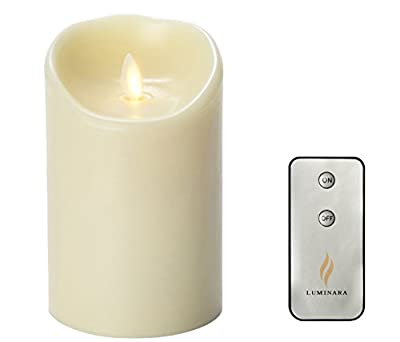 Luminara Flameless Candles Wax Candle with Timer and Remote Included