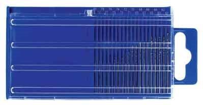 - SE 826HDP 20-Piece Wire Gauge 61-80 HSS Twist Drills Set with Plastic Case