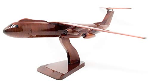 C-141 Starlifter Replica Airplane Model Hand Crafted with Real Mahogany Wood