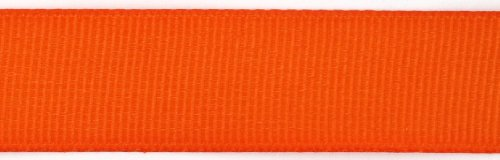 Kel-Toy Polyester Grosgrain Ribbon, 5/8-Inch by 25-Yard, (Orange Grain)