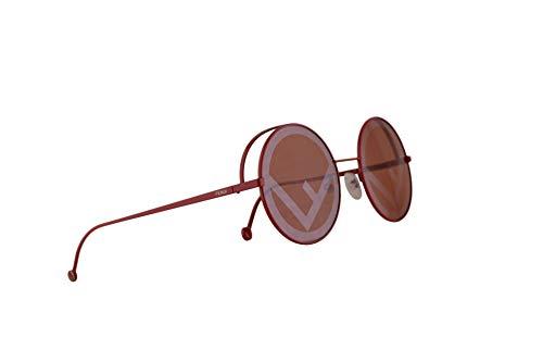 Fendi FF0343/S Sunglasses Red w/Red Lens 53mm C9A0L FF0343S FF 0343/S