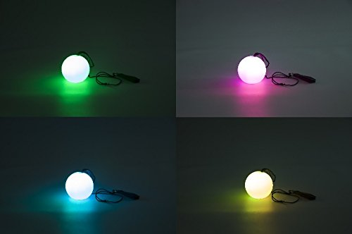 Mindscope LED POI Spin Sphere Set Of Two Multi Cycle Light Mode Balls With Adjustable Strap
