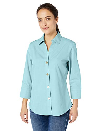 Foxcroft Women's Non-Iron Essential Paigely Shirt, Oasis, 12