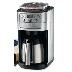 Cuisinart Automatic Coffeemaker Burr Grind and Brew 12 Cup Charcoal Water Filter 5 Oz, Brushed Stainless Steel