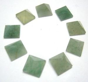 CRYSTALMIRACLE Beautiful 9 Green Aventurine Quartz Loose mini Pyramids Crystal Healing Reiki Bagua Feng Shui Gift Metaphysical Vaastu Wicca Home Office luck Protective Meditation health wealth success by CRYSTALMIRACLE