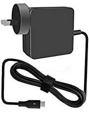 [New Releases] 65W Type-C charger with 6-foot Light Up power cord for Apple Macbook/ Dell/ Xiaomi Air/ Huawei Matebook/ HP Spectre/ Lenovo IdeaPad, Yoga, and X1 Carbon/ Razer Blade Stealth/Asus ZenBook 3/ Nintendo Switch, and most of Type-C enabled laptop, smartphone and tablet