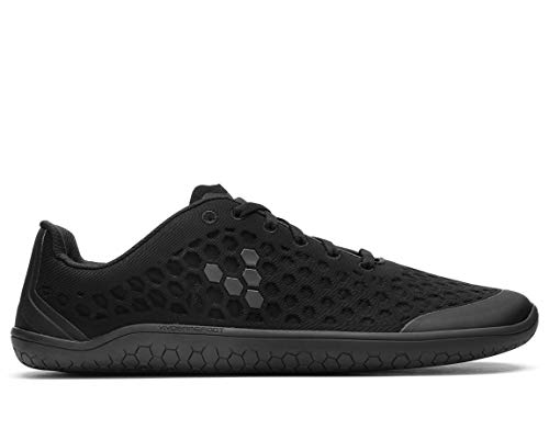 Vivobarefoot Stealth II, Mens Breathable Vegan Workout Shoe with Barefoot Sole Black