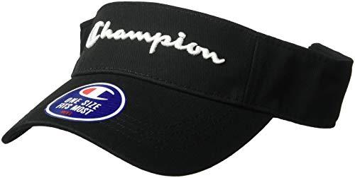 Champion LIFE Men's Twill Mesh Visor, Black, - Twill Visor