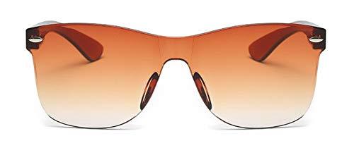 WSKPE Lunettes De Soleil /Lunettes De Soleil Lunettes De Soleil sans Monture Transparente Uv400 D/égrad/é Orange Lens