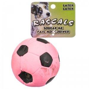 "Coastal Pet Rascals Latex 3-inch Soccer Ball Dog Toy - 3"" Pi"