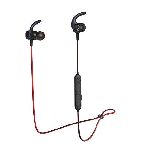 Cloudio S1 Bluetooth Sports in-Ear Headphones Best Wireless Stereo Earbuds Magnet IPX7 Sweatproof Bath Shower Waterproof Earphones with Mic for Running Workout 9 Hrs Noise Cancelling Headsets - Black