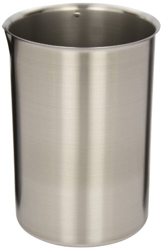 Polar Ware 3000B Stainless Steel Griffin Style Beaker, 3000 mL Capacity, 5-1/2'' OD x 8-1/4'' H (Case of 6) by Polar Ware